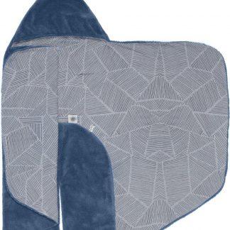 Snoozebaby Wikkeldeken Trendy Wrapping - Oekotex materiaal - geschikt voor alle autostoelen groep 0 - 90x110cm - Midnight Blue indigo