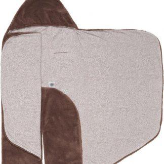 Snoozebaby Wikkeldeken Trendy Wrapping - Oekotex materiaal - geschikt voor alle autostoelen groep 0 - 90x110cm - Muddy River bruin