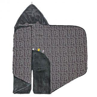 Snoozebaby wikkeldeken Trendy Wrapping - Oekotex materiaal - geschikt voor alle autostoelen groep 0 - 90x110cm - Frost Grey grijs