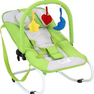 Trend24 - Wipstoel - Wipstoeltjes - Wipstoel baby - Babyswing - Babyschommel - Metalen frame - Groen - 78 x 41 x 12,5 cm - 3,1KG