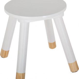 Atmosphera kinderkrukje wit voor aan een kleine kindertafel - kinderstoel - krukje - houten stoel voor kinderen