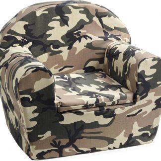 KidZ ImpulZ - Peuterstoeltje - Kinderfauteuil - Kinderstoel - Kinderzetel - Kindersofa - Kraamcadeau - Camouflage - 0 tot 5 jaar - stoer
