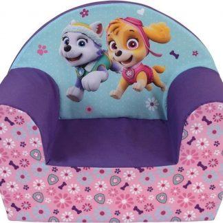 Paw Patrol kinderstoel/kinderfauteuil 33 x 52 x 42 cm kindermeubels - Everest/Skye - Kinderkamer meubeltjes - Stoelen/fauteuils voor jongens/meisjes/kinderen