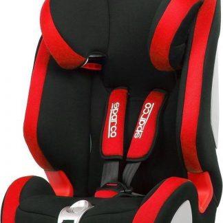 Sparco - kinderstoel - Groep 1 2/3 9 tot 36 kg - zwart/rood