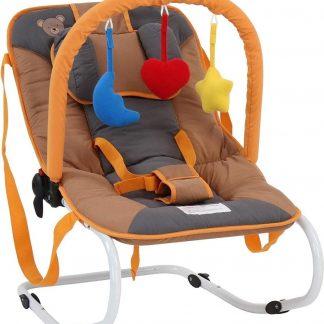 Trend24 - Wipstoel - Wipstoeltjes - Wipstoel baby - Babyswing - Babyschommel - Metalen frame - Honing - 78 x 41 x 12,5 cm - 3,1KG