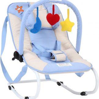 Wipstoeltje - kinderstoel - babyschommelstoeltje - baby blauw