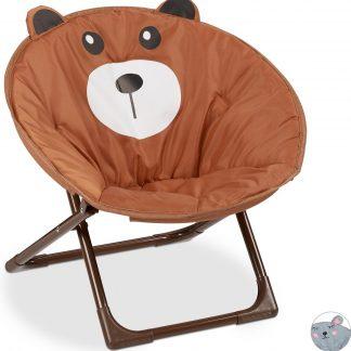 relaxdays kinderstoel moon chair - relaxstoel voor kinderen - campingstoel - inklapbaar monster