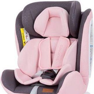 Autostoel Tourneo isofix baby roze 0-36 kg 360 graden draaibaar