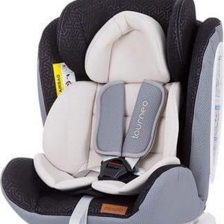 Autostoel Tourneo isofix creme 0-36 kg 360 graden draaibaar