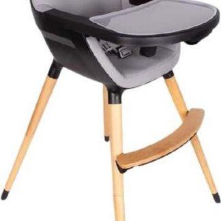 Interbaby Kinderstoel Grow 57 X 94 Cm Hout/kunstleer Zwart