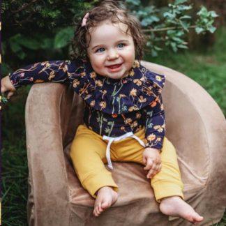 Kinderstoel - kinderzetel - Velvet - Gold - Goud - jongens - meisjes - kindermeubels - kindermeubelen tafel en stoeltjes