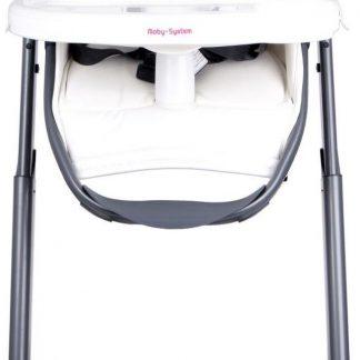 Moby System Ines Kinderstoel - Ligstand - Wit - Baby stoel - ligstoel