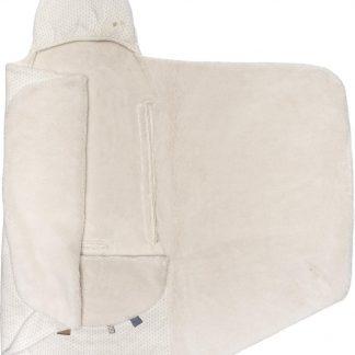 Snoozebaby Wikkeldeken Trendy Wrapping - organic katoen - geschikt voor alle autostoelen groep 0 - 90x110cm - Stone Beige beige