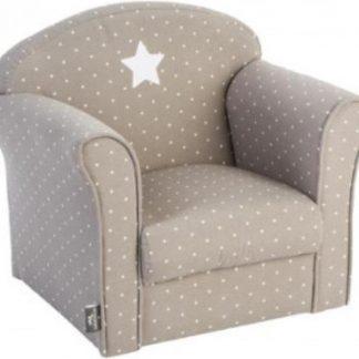 Atmosphera Créateur d'intérieur® | klassieke fauteuil | taupe ster | kinderstoel | stoeltje peuters kinderen