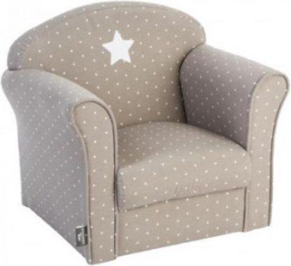 Atmosphera Créateur d'intérieur®   klassieke fauteuil   taupe ster   kinderstoel   stoeltje peuters kinderen
