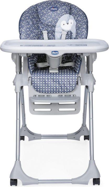 Chicco Polly Easy Kinderstoel - Inklapbare baby eetstoel - Met stoelverkleiner - Hoogte verstelbaar - Pinguin