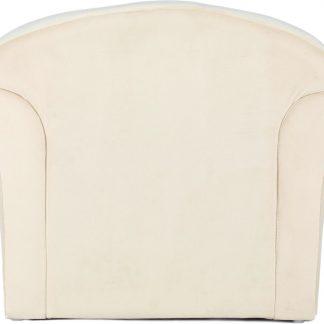 Dorothee 225 kinderstoel, beige Fluweelzachte stoffen bekleding, ronde rugleuning, gezellig
