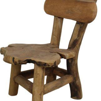 HSM Collection Kinderstoel Flinstone - oud teakhout