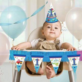 Kinderstoel versiering voor de eerste verjaardag transport - 1 jaar versiering