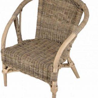 Rieten Kinderstoel Basic in Grey Rotan